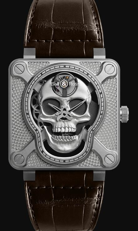 Bell & Ross BR 01 LAUGHING SKULL BR01-SKULL-SK-ST Replica Watch